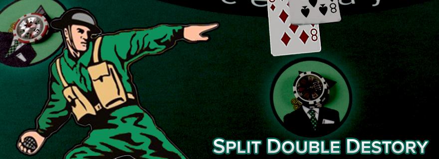 Split Double Destroy - Backoff Anggota Tim